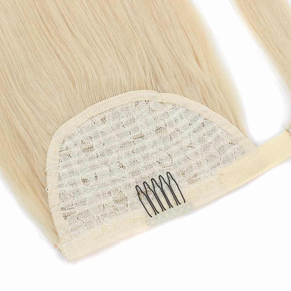 Bhf 100% Menselijk Haar Paardenstaart Braziliaanse Machine Remy Paardenstaart Wrap Around Paardenstaart Pruik 120G Haarstukken Natuurlijke Rechte Staarten