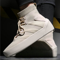 Fashion Men Casual Shoes thick bottom Male high top stretch Fabric Flats boys casual Sneakers keep Warm fur Tenis Shoes LH 99