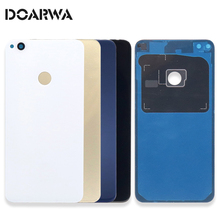 Glass Back Cover For Huawei Honor 8 Lite Battery Cover P8 Lite P8lite 2017 Back Rear Housing Door Replacement