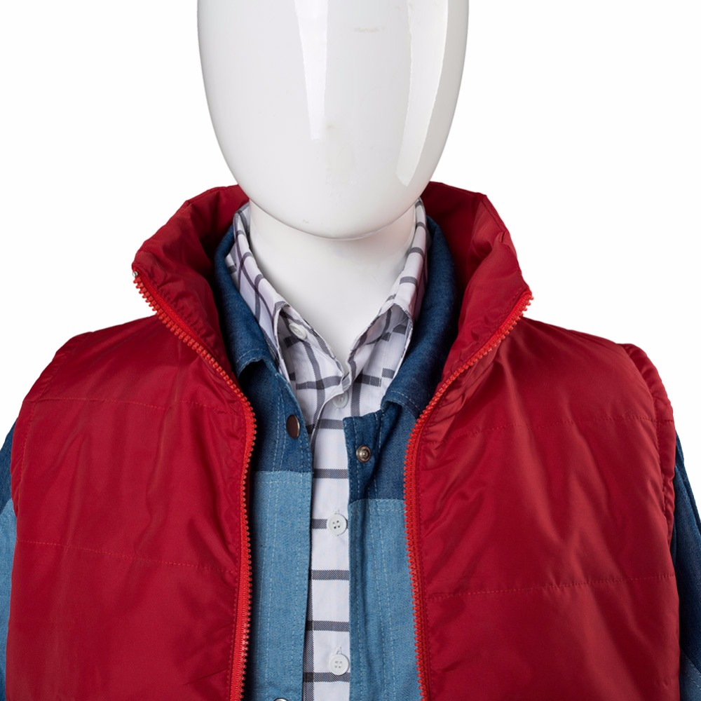 Back To The Future Cosplay Costume Jr Marlene Seamus Marty Mcfly Jacket