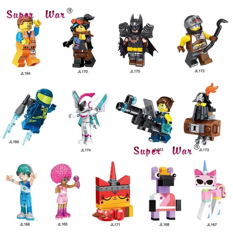 50pcs Building Blocks Cartoon MOVIE 2 Series Emmet REX Ultrakatty Lucy Tire batman Melody for kids