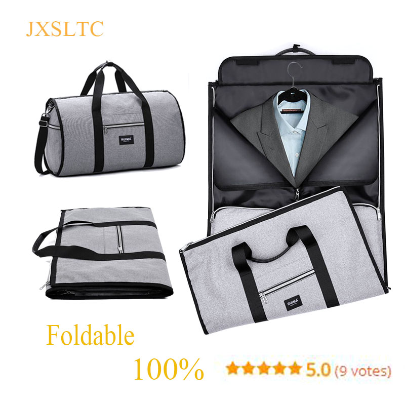 e34de28f320a US $22.46 48% OFF|Waterproof Travel Bag Mens Garment Bags Women Travel  Shoulder Bag 2 In 1 Large Luggage Duffel Totes Carry On Leisure Hand Bag  TY-in ...