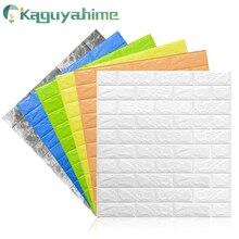 Kaguyahime autoadhesivo 3D pegatina de pared imitación de ladrillo de mármol en relieve DIY decoración del hogar papel tapiz cocina dormitorio