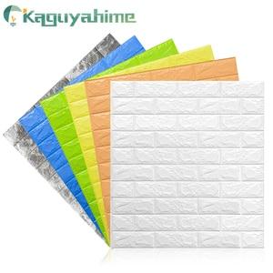 Kaguyahime Self-Adhesive 3D Wall Sticker Imitation Brick Marble Embossed DIY Home Decoration Wallpaper Kidroom Kitchen Bedroom