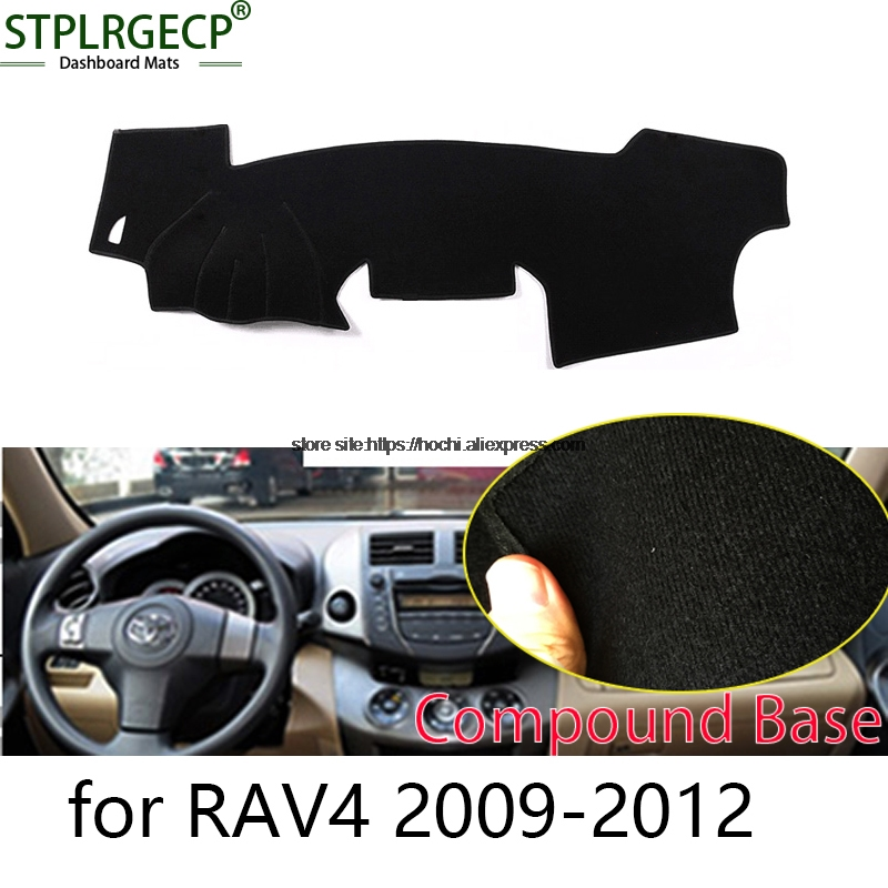 STPLRGECP double layer Black Dash Mat For toyota RAV4 RAV 4 2009-16 Dashmat Black Carpet Car Dashboard Automotive interior Mats stplrgecp double layer black dash mat