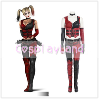 Batman Arkham City Harley Quinn Cosplay Costume Carnival Halloween Costumes Sexy Costume for Women Harley Quinn Costume Suit