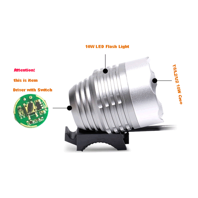<font><b>LED</b></font> <font><b>Driver</b></font> with Switch Input 5V~ 12V <font><b>20mm</b></font> For Cree <font><b>10W</b></font> XML T6 / U2 XM-L2 <font><b>LED</b></font> Flashlight or 5V 12V Battery Car Light image
