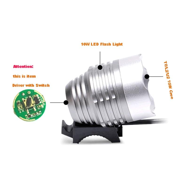 LED Driver with Switch Input 3.7V~ 12V 20mm For Cree 10W XML T6 / U2 XM-L2 LED Flashlight or 5V 12V Battery Car Light sitemap 27 xml