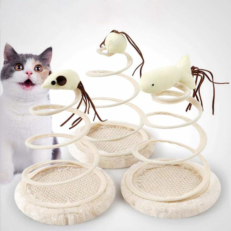 Yooap Pet supplies cat toy simulation mouse plush spring funny  toys interactive