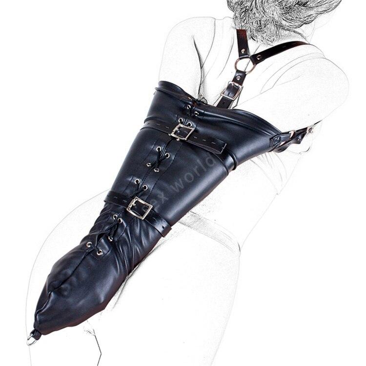 Soft Pu Leather Arm Binder Bondage Slave Fetish Arm Cuff Glove-Adult-Bondage  Ebay-3406