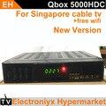 2017 NUEVA caja de cable tv receptor de la caja negra hd starhub de singapur set top box qboxhd 5000hdc/QBOX 4000HDC/BlackBox 700HDC N3 + wifi adaptarse