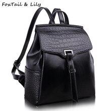 Лисохвост и Лили Мода Крокодил, рюкзак Композитная кожа известный дизайнер школьные сумки для девочек туристические рюкзаки