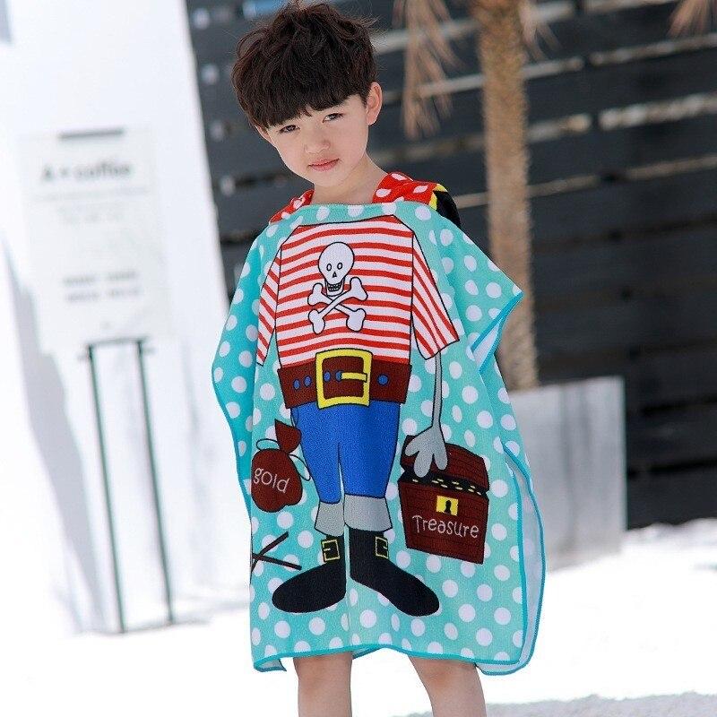 Disney Baby Bath Towel Hooded Cloak Soft Microfiber Beach Towels Cartoon Mickey Minnie Spider Man Princess Elsa For Boys Girls