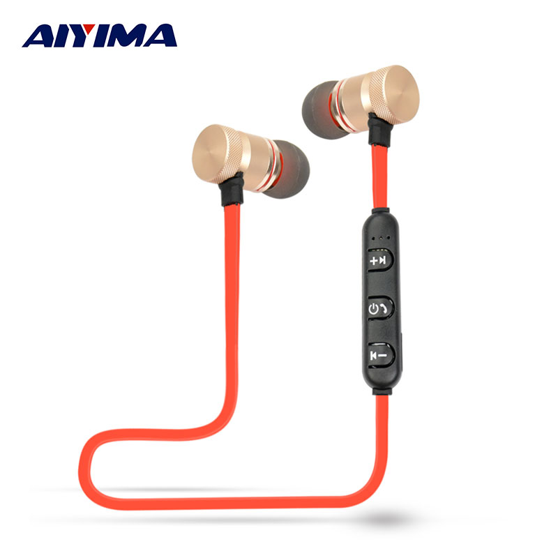 AIYIMA Audifonos Necklace Headsets Bluetooth Sport Earphone Headphone Wireless Stereo Music Gaming Headphones aiyima headphones gaming headset 3 5mm foldable sport earphone audifonos hifi stereo sound music portable earphone