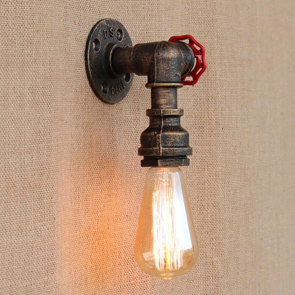LED Loft Industriellen eisen rost Wasser rohr retro wand lampe ...