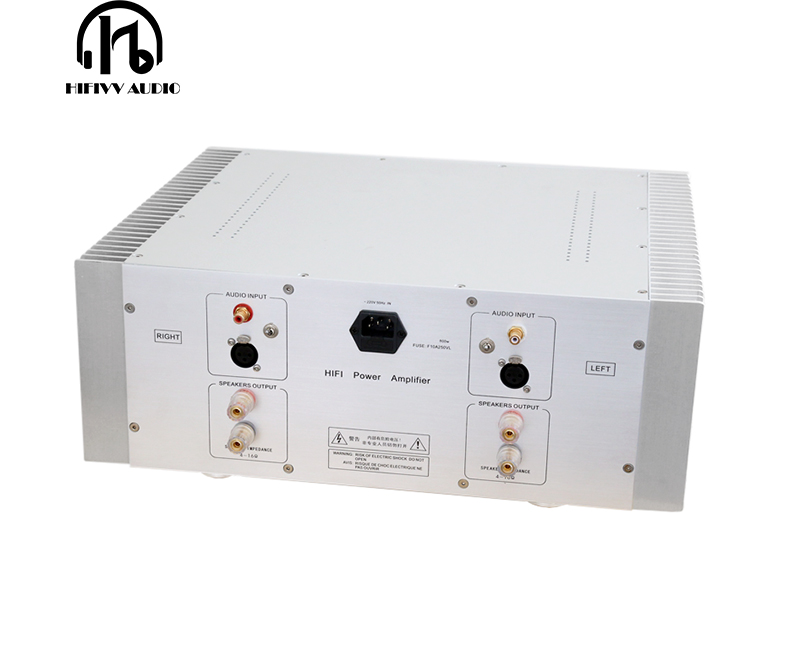 Image 4 - 500W + 500W Fully Symmetric 2.0 Stereo power speaker amplifier Finished large hifi Post stage Amplifier Balanced XLR rca InputAmplifier   -