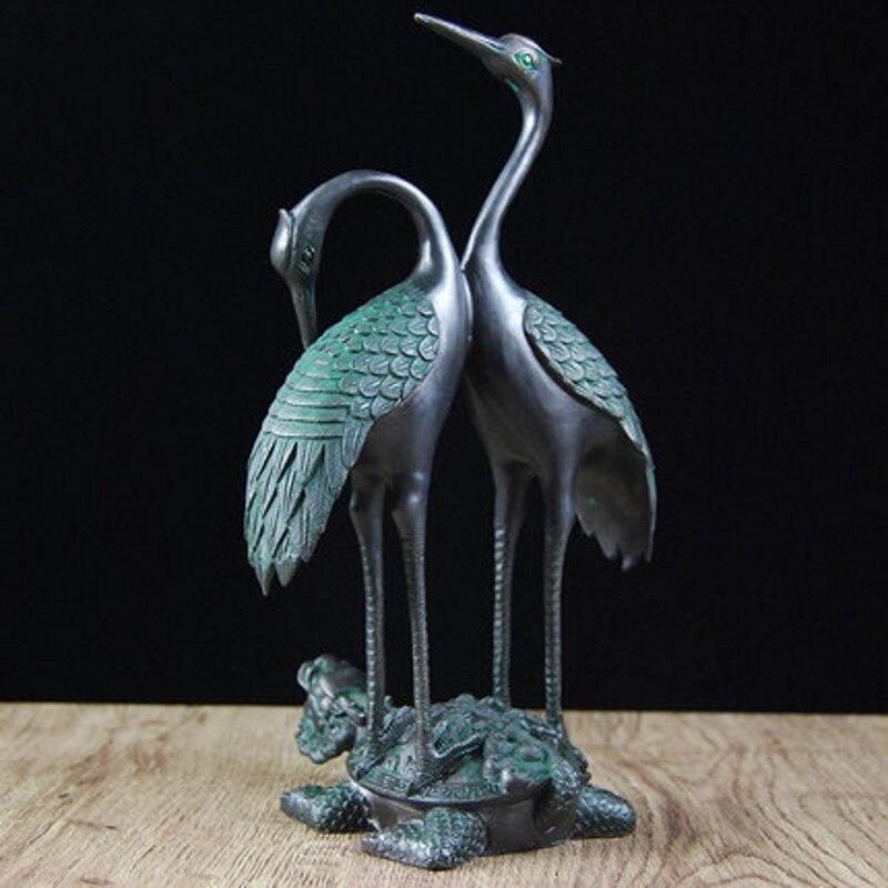 Grue et tortue de Dragon artisanat salon bureau cadeaux de haute qualité décoration de la maison