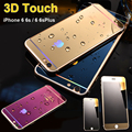 EE.UU. stock 0.3mm Vidrio Templado Película Delantera y Trasera Protector de Pantalla cara de espejo para ise 5S iphone 6 6 s 4.7/6 plus 5.5 pulgadas