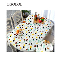 LGOLOL Oval Tablecloth Waterproof and Oilproof Table Mat PVC Anti scalding Soft Glass Thick Transparent Table Mat Crystal Plate