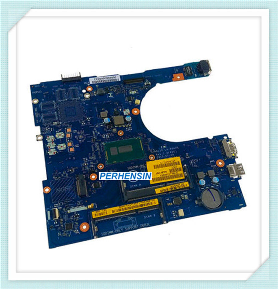 Для Dell Inspiron 17 5758 материнская плата для ноутбука i7 5500U 2,2 Ghz LA B843P AAL10 100% отлично работает