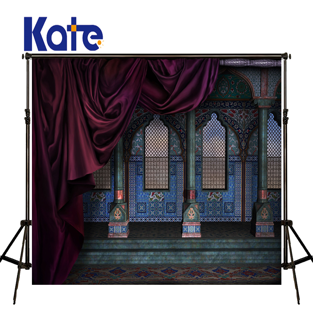 Kate Outdoor Wedding Photography Backdrops Blue Luxury Palace Backdrops Vintage Photo Romantic Wedding Photography Backdrops сумка kate spade new york wkru2816 kate spade hanna