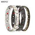 Stainless Steel Bracelet with Magnet Stone or Germanium White Ion and FIR Stone Infrared Energy Magnetic Bracelet