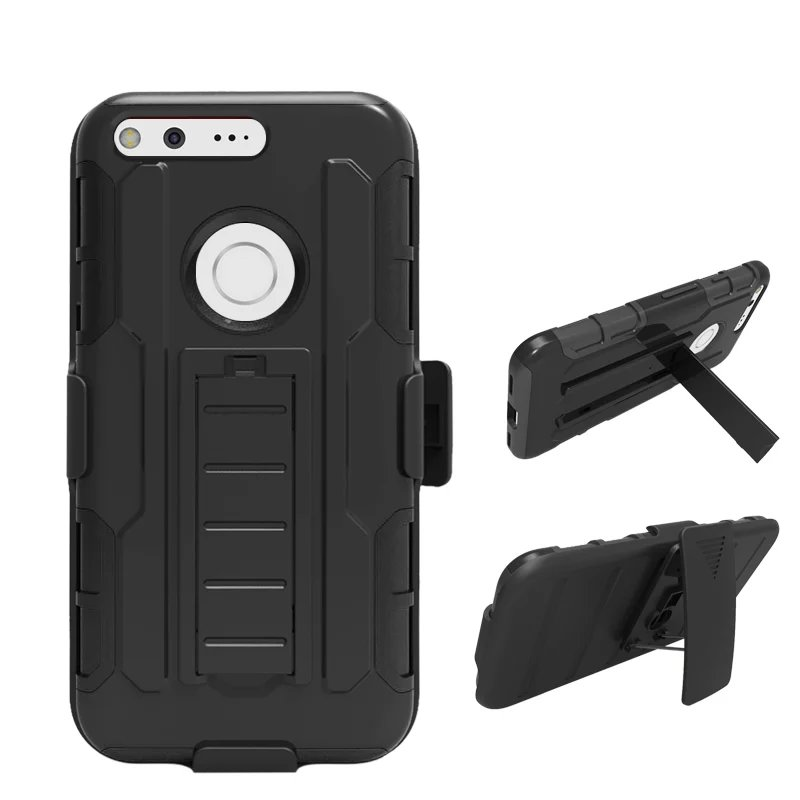 Shockproof Belt Clip Cover For Google Pixel Xl Phone Case Armor Impact Holster For Google Pixel / Pixel Xl Anti Knock Back Cover