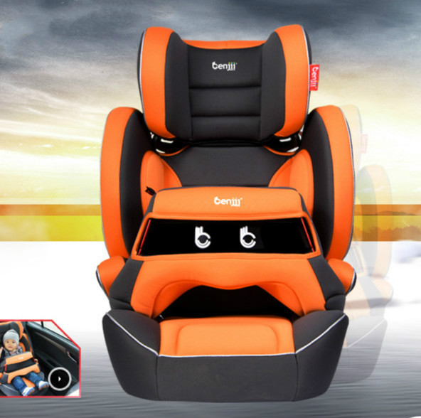 Healthy Naturazl Soft Comfortable Child Car Safety Seat Chair For 9 Month - 12 Years Old Baby Use