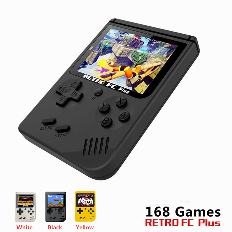 Mini Handheld Game Console Nostalgic Children Retro Game Family TV Video Console Built-in 168 Games For Boy Nostalgic Player