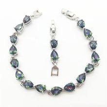 7ba4dbfc7253 Mujeres moda joyería pulseras lleno de arco iris Mystic ZIRCON piedra  pulsera de la señora del diseño del arco de nueva llegada