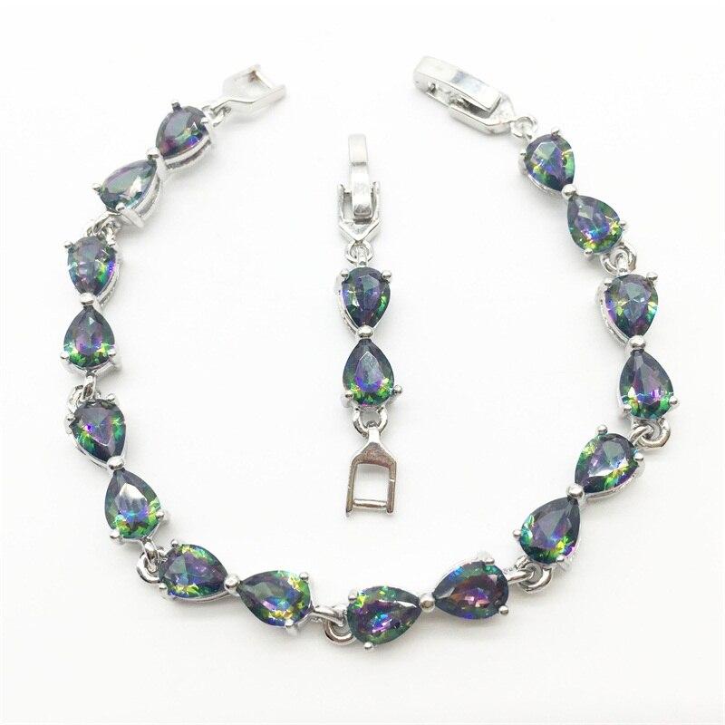 Здесь продается  Women Fashion Jewelry Bracelets Filled Rainbow Mystic Zircon Stone Lady