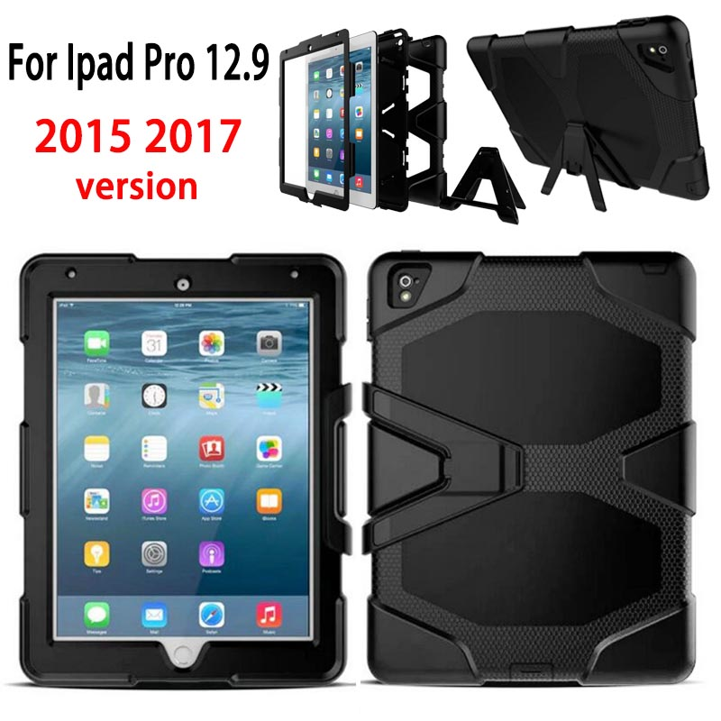 new Protection Case For iPad pro 12.9 inch 2017 Kids Safe Shockproof TPU Cover for apple iPad pro 12.9 2015 A1584 A1652