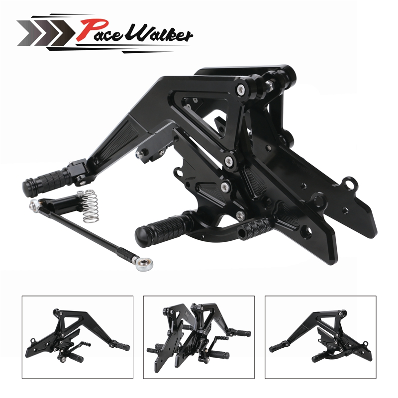 CNC Aluminum Motorcycle Adjustable Rearset Rear Set Foot Pegs Pedal Footrest For Kawasaki Ninja 650(EX650)ER-6N/ER-6F 2012-2016 luminox made in switzerland a 1945 xl 1945 a 1947 xl 1947 the army men s series of waterproof luminous quartz