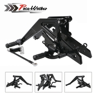CNC Aluminum Motorcycle Adjustable Rearset Rear Set Foot Pegs Pedal Footrest For Kawasaki Ninja 650(EX650)ER 6N/ER 6F 2012 2016
