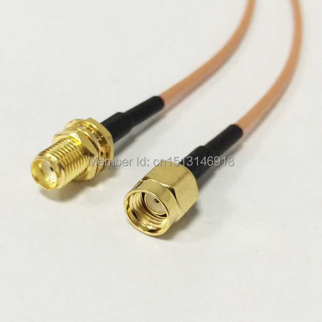 New RF Coaxial Cable RG316 SMA Female Jack To RP-SMA Male Plug Connector Pigtail 15CM 6inch Adapter 6pcs adapter rp sma jack male to 2 rp sma plug female t rf connector triple