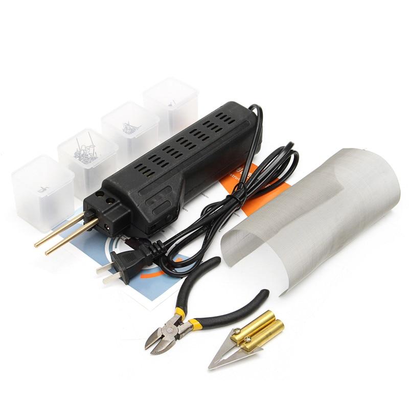Tools Temperate 220-250v Hot Stapler Car Bumper Plastic Welding Torch Fairing Auto Body Tool Welder Machine 0.6/0.8mm 200 Staples