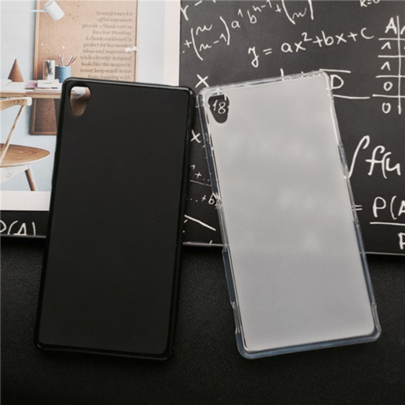 Soft Silicone Protective Back Cover <font><b>Cases</b></font> for <font><b>Sony</b></font> <font><b>Xperia</b></font> <font><b>Z5</b></font> E6633 / <font><b>E6653</b></font> / E6683 TPU Mobile Phone <font><b>Case</b></font> Black Para image
