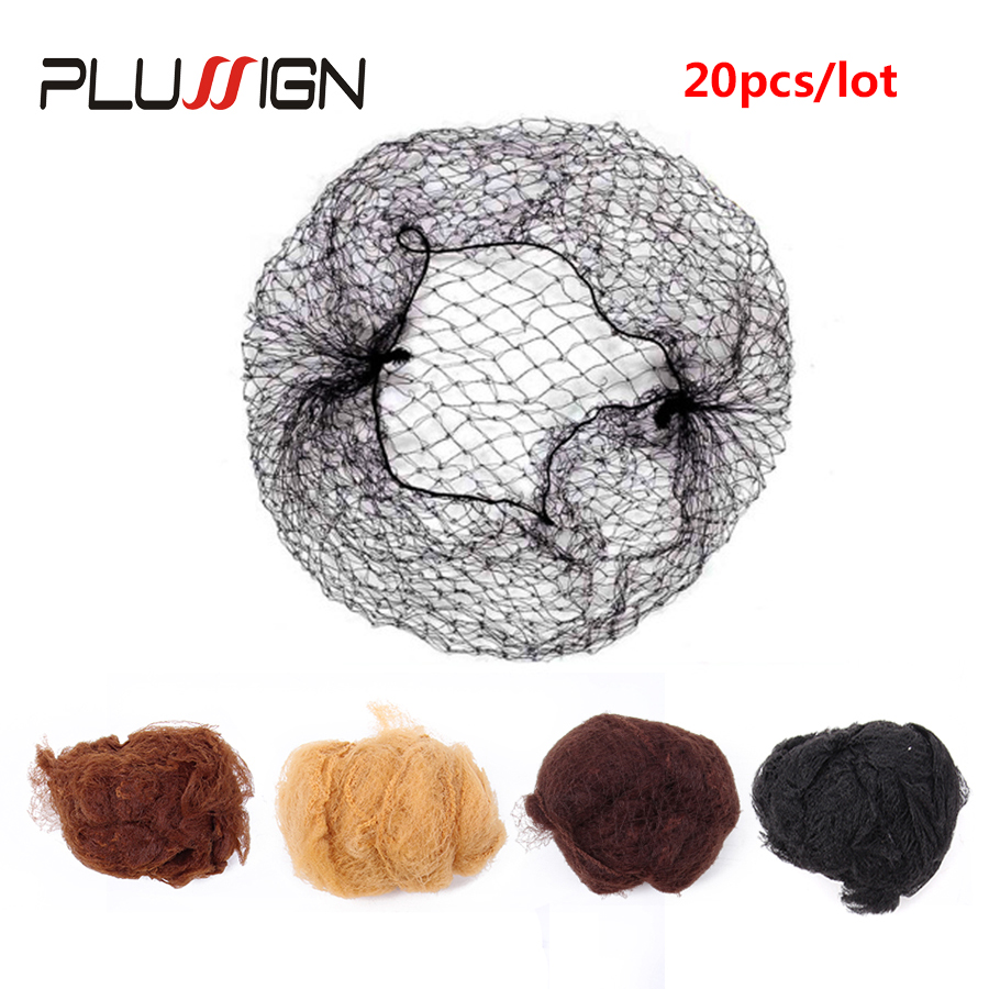 Hight Quality Elastic Nylon Hair Net Black Blonde Brown Color Wig Hair Net Cap 20 Pcs/Lot