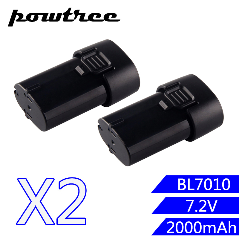 2PACKS 2000mAh 7.2V Li-ion BL7010 Rechargeable Battery: Makita 194355-4 194356-<font><b>2</b></font> TD020DS GN900 <font><b>7010</b></font> image