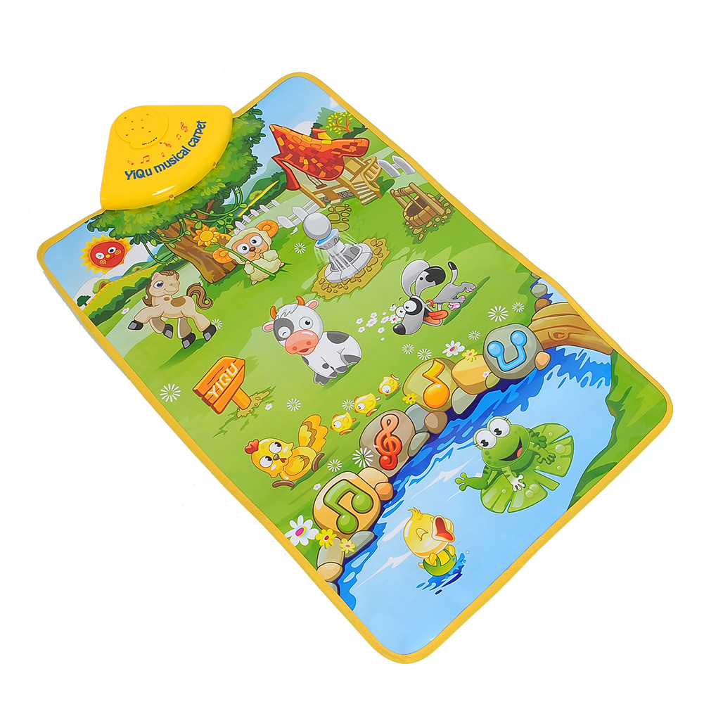Bathroom carpets barbados bathroom carpet fantasy rose abbey - Hot Sale Musical Singing Farm Animal Farmery Child Playing Play Blanket Mat Carpet Playmat Touch Kid