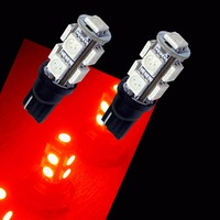 PA LED 10PCS x T10 W5W 194 168 9SMD 5050 LED Color Red For Car Auto Turn Light Bulbs PA 12V