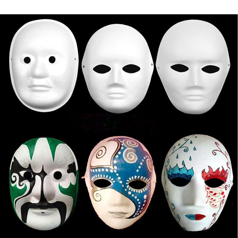 Ev Ve Bahce Ten Parti Maskleri De Diy Boyama Hamuru Bos Beyaz