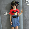 Europe And The United States Children's Summer Wear  Girl Dress Cuhk Mouse Head High Quality Children's Wear