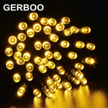 GERBOO Solar Power LED Outdoor String Light for Holiday Fairy Christmas Party Tree Decoration 4PCS/LOT