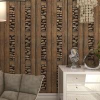 Vintage Wall Paper Wood 3D Wallpaper Wood 3d Stone Wallpaper Wood Contact Paper 3D Wall Panel