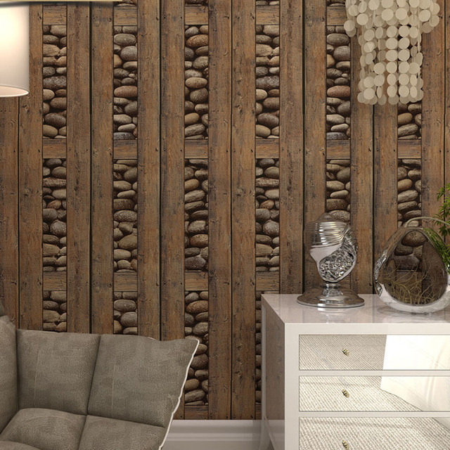 Vintage Brick Wallpaper 3d PVC Wood Stone Waterproof Wall Papers Home Decor  Personalized Contact Vinyl Wall