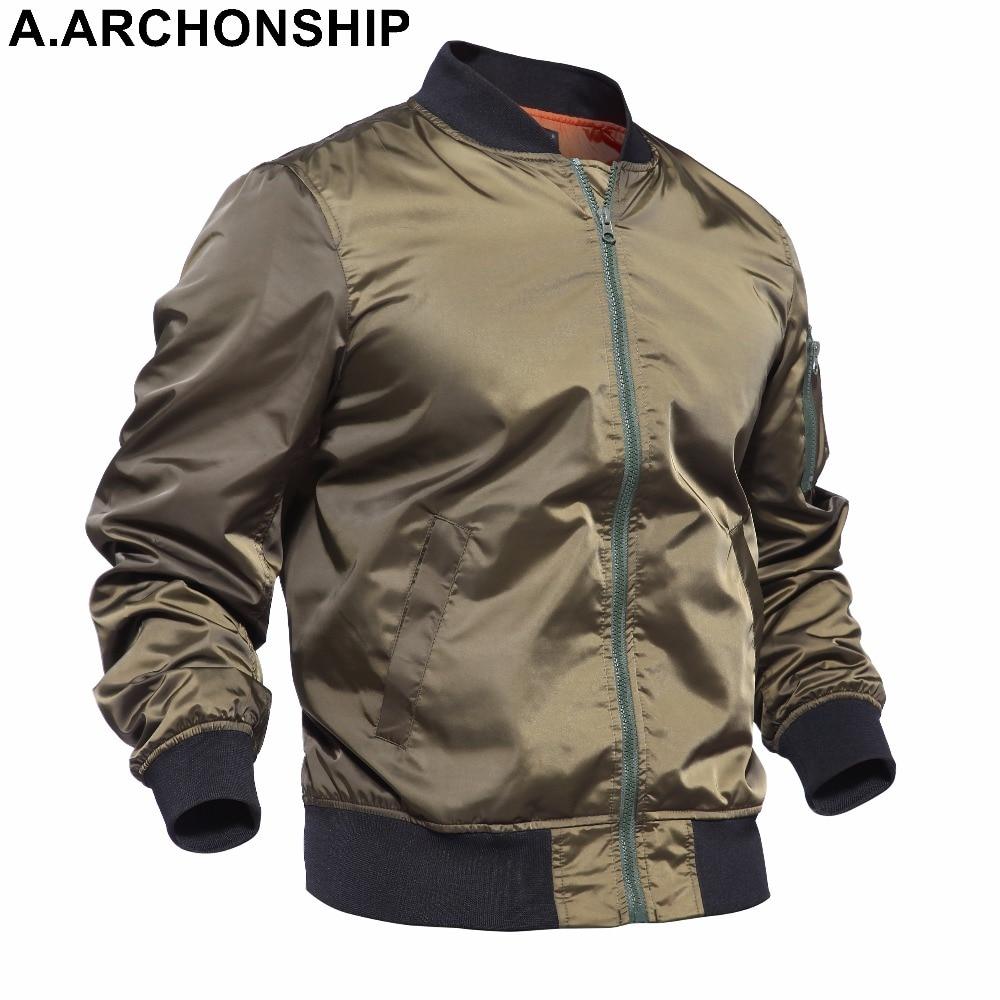 Nový 2017 Tenký MA1 Podzim Léto Bombardér Flight bunda Air Force Baseball Vojenské Oblečení hip hop kabáty streetwear # 001