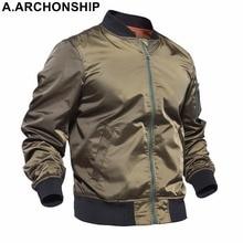 New 2017 Thin MA1 Autumn Summer Men's Bomber Flight jacket Air Force Baseball Military Outwear hip hop coats streetwear #001