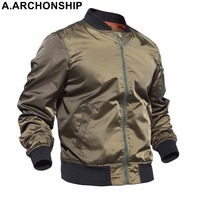 New 2017 Thin MA1 Autumn Summer Men's Bomber Flight jacket Air Force Baseball Military Outwear hip hop coats streetwear #001
