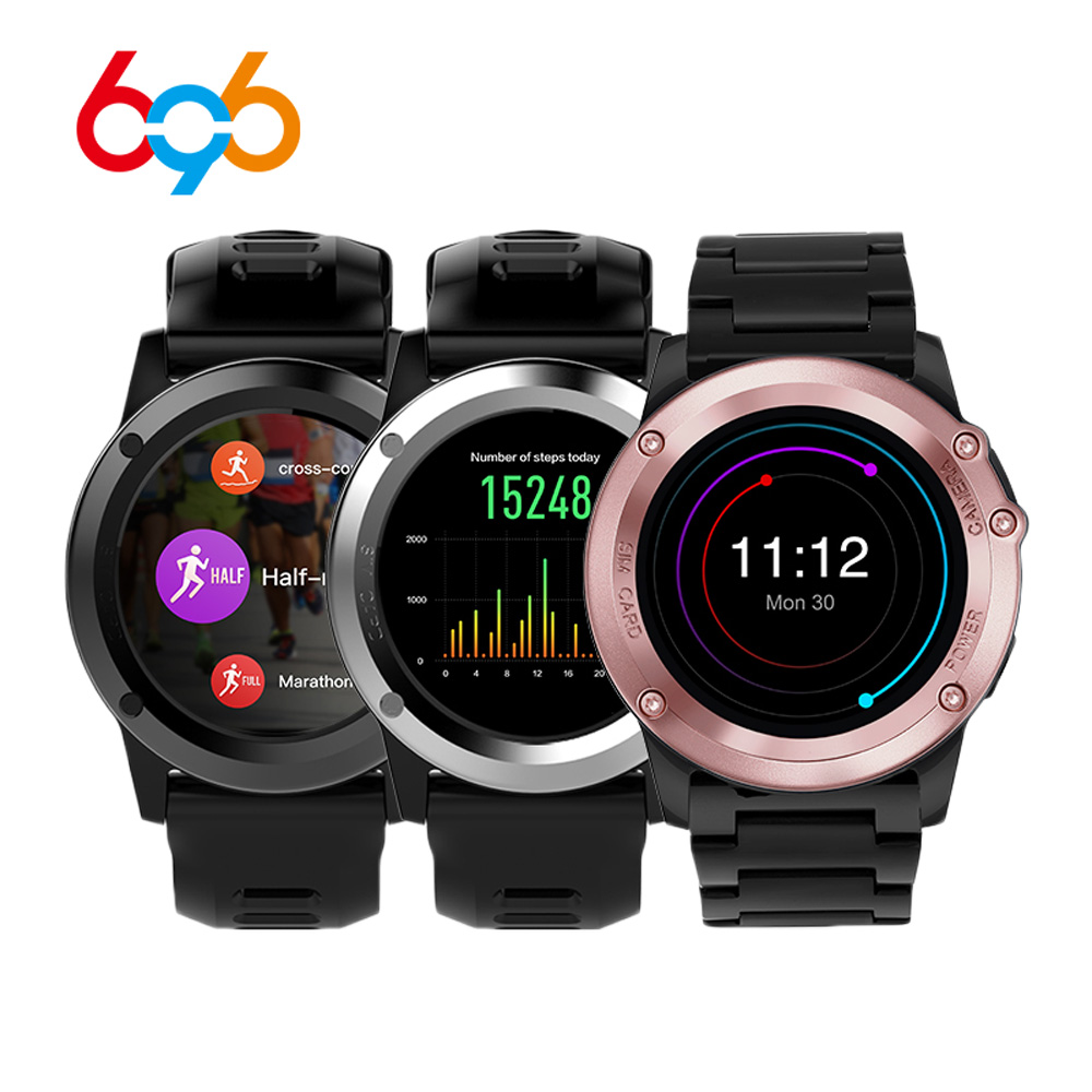 696 H1 Smart Watch Android 4.4 OS Sports Smartwatch MTK6572 512MB 4GB ROM GPS SIM 3G Heart Rate Monitor Camera IP68 Waterproof h1 smart watch android 5 1 os smartwatch mtk6572 512mb 4gb rom gps sim 3g heart rate monitor camera waterproof sports wristw
